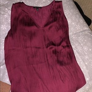 Mauve banana republic basic satin tank